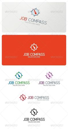Job Compass Logo Template — Vector EPS #consulting #icon • Available here → https://graphicriver.net/item/job-compass-logo-template/5233104?ref=pxcr