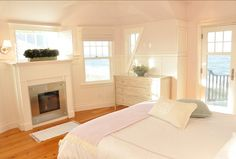 Dream Beach Cottage with Neutral Coastal Decor, pale pink paint, benjamin moore sugarcane 1185