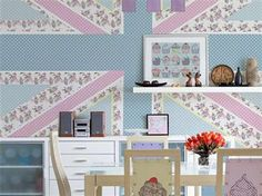 Sorbet Union Jack Wallpaper Mural