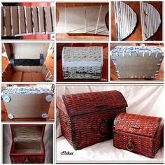 DIY: Recycled Newspaper roll Box - Craft Tutorial - Crazzy Crafts