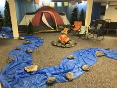 camp theme Rolling River Rampage VBS - Nocona First United Methodist Church - Nocona, Tx School Themes, Classroom Themes, Vbs Themes, Classroom Activities, Indoor Camping, Lake Camping, Camping Places, Winter Camping, Family Camping