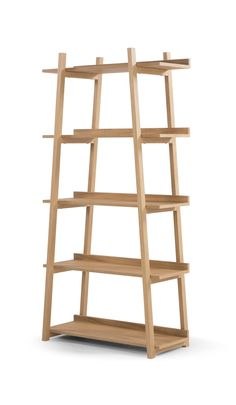 Darcey Shelves in Oak. Storage Staple. £299. MADE.COM Vintage Trunks, Ladder Bookcase, Storage Solutions, Office Decor, Sweet Home, Shelves, Bungalow, Interior, Cabinets