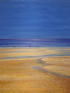 061tranquil beach painting