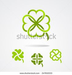 Find Clover Saint Patrick Trefoil Symbol Set stock images in HD and millions of other royalty-free stock photos, illustrations and vectors in the Shutterstock collection. Saint Patrick, Clover Logo, Clinic Logo, Logo Branding, Logos, Celtic Knot Designs, Personal Logo, Gourd Art, Four Leaf Clover