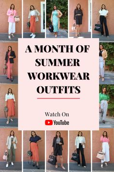 Summer Work Outfits, Office Outfits, Office Style, Office Fashion, Work Clothes, Workwear, Formal Wear, Business Casual, Style Guides
