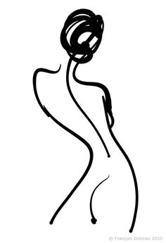 François Dubeau: title unknown [nude rear view woman], line drawing in ink on… Life Drawing, Figure Drawing, Painting Inspiration, Art Inspo, Silhouette Art, Minimalist Art, Minimalist Drawers, Simple Art, White Art