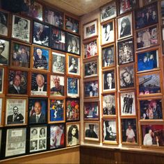 Carnegie Deli wall of fame...