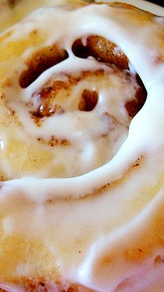 Vanilla Pudding Cinnamon Rolls with Cream Cheese Frosting.