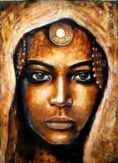 ArtCindyLove. @manishamaya African Art Paintings, Oil Pastel Paintings, Afrique Art, Face Art, Portrait Art, Art Pictures, Art Photography, Illustration Art, Artwork