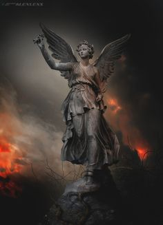 In addition to the castle ))) All stocks used for this artwork are my own morgoth. Angel Sculpture, Stone Sculpture, Sculpture Art, Sculptures, Greek Statues, Angel Statues, Sea Queen, Stone Statues, Full Sleeve Tattoos
