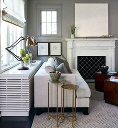 The 10 Best Ways To Hide Ugly Home Heaters - Shelving & Cabinetry   Gallery   Glo
