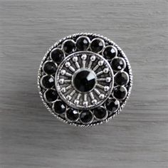 Crystal Drawer Knobs - Furniture Knobs with Black Glass Crystals in Silver If you are looking for a quick update to a piece of furniture in your home, these beautiful silver and crystal drawer knobs are just the thing! They can be used as cabinet knobs in a kitchen or bathroom, or add sparkle to a dresser! Furniture knobs are a quick way to add interest to any space, and the sophisticated elegance of these drawer pulls are the way to go!