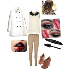 A fashion look from January 2015 featuring Darling blouses, MANGO coats and Vero Moda leggings. Browse and shop related looks.