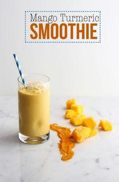Mango Turmeric Smoothie | Dietitian Debbie Dishes