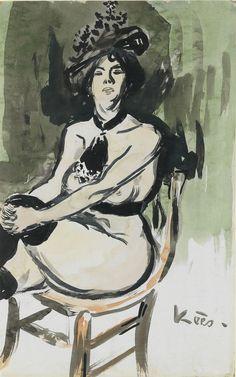 Kees van Dongen, 'Courtisane Assise', 1905
