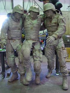 """Iconic """"Hell House"""" photo commemorated in statue for Camp Lejeune Warrior Hope and Care Center. Funds for the Lejeune monument were raised by the North Carolina Credit Union League and Balfour Beatty Construction, according to Hope For The Warriors®. The Lejeune sculpture will be unveiled in a March 8, 2013 ceremony."""