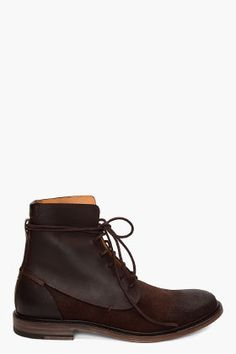MAISON MARTIN MARGIELA Dark Brown Boots