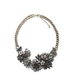 MULTI-FLOWER CRYSTAL NECKLACE from Zara $60