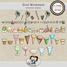 SoMa Design: Cool Moments - Ice cream Creator Digital Scrapbooking, The Creator, In This Moment, Cool Stuff, Comics, Mini, Bedrooms, Ice Cream, Design