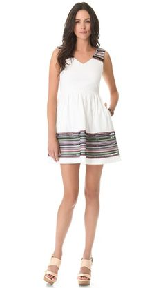 Shoshanna Embroidered Chase Dress