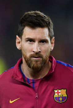 Lionel Messi of Barcelona looks on prior to the UEFA Champions League Group D match between FC Barcelona and Juventus at Camp Nou on September 12, 2017 in Barcelona.
