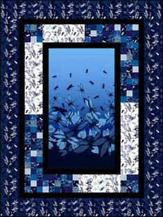 Spotlight Quilt pattern. To Make. A stunning Asian Panel pieced quilt. Great for any panel or large scale fabric. Finished Quilt Sizes: