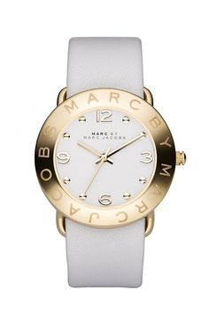 Free shipping and returns on MARC BY MARC JACOBS 'Amy' Leather Strap Watch, 36mm at Nordstrom.com. Cleanly styled dial is framed with a chic logo bezel and perfectly complemented by a full-grain leather strap.