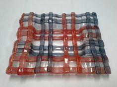 Centro de mesa pode ser usado como fruteira feito artesanalmente em fusing peça exclusiva