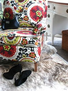 Anthropologie Inspired Upholstered Chair - could I really do this???