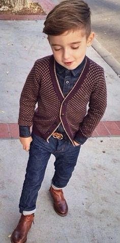 28 Ideas Fashion Kids Outfits Boys Hipster Babies For 2019 Fashion Kids, Toddler Boy Fashion, Little Boy Fashion, Toddler Boy Outfits, Toddler Boys, Fall Fashion, Kids Boys, Hipster Fashion Guys, Toddler Boy Hair