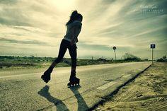 Beautiful girl skating