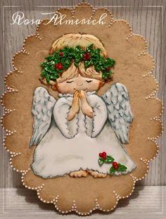 Angel Cookie Christmas Goodies, Christmas Angels, Christmas Treats, Fancy Cookies, Cupcake Cookies, Christmas Reflections, Angel Cookies, Baptism Cookies, New Years Cookies
