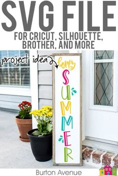 Happy Summer, Svg Files For Cricut, Cricut Design, Projects, Free, Log Projects, Blue Prints