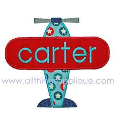 Embroidery Design  Airplane Applique Design  by allthingsapplique... Need someone to make this for Andrew :))