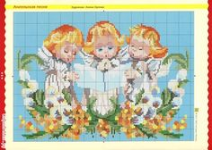 VK is the largest European social network with more than 100 million active users. Cross Stitch Angels, Christmas Projects, Christmas Ideas, Cherub, Hama Beads, Cross Stitching, Cross Stitch Patterns, Diagram, Handmade