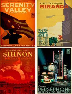 21 Retro Travel Posters Feature Fantasy & Sci-Fi Destinations (Page 1) | WebUrbanist
