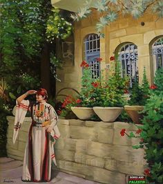 Art :  Painting By Palestinian Artist  Dr. Ibrahim Shalaby