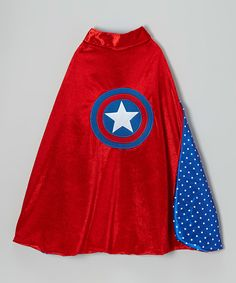 Look at this Red & Blue Star American Hero Cape on #zulily today!