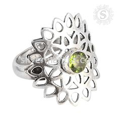 Passionate Love! Peridot 925 Sterling Silver Ring