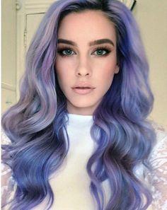 ash purple hair color styles