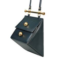 Architectural Triangle Shoulder Bag