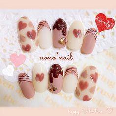 Choose from an Amazing Array of Nail Art Design Nails Now, Love Nails, Korea Nail Art, Kawaii Nail Art, Romantic Nails, Animal Nail Art, Valentine Nail Art, Happy Nails, Japanese Nail Art