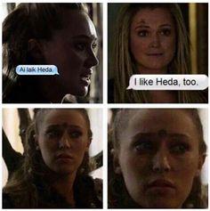 Omg it's sooooo funny #clexa #lexa #heda #the100