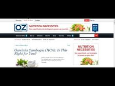http://www.naturalhomeremedieshq.com/garcinia-online Dr Oz diet and weight loss featured Garcinia Cambogia extract as one of the weight loss miracle suppleme…