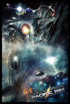 Pacific Rim - Paul Shipper  http://blurppy.com/2013/07/02/exclusive-blurppy-poster-posse-project-3-warner-bros-guillermo-del-toros-robots-vs-monsters-sci-fi-action-flick-pacific-rim-phase-2/
