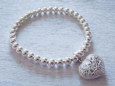 Silberarmband mit Herz Bracelets, Silver, Shopping, Jewelry, Fashion, Sparkle, Heart, Bangles, Jewellery Making