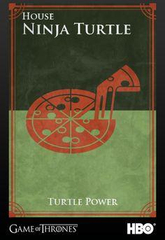 Game of Thrones Houses - The Teenage Mutant Ninja Turtles