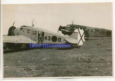 selt Archiv Foto: Flugzeug Ju 52 und W35 Legion Condor Kennung 43-8 Spanien ++ | eBay