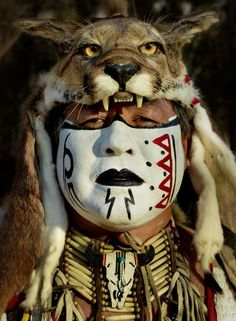 Spirit Of The Mountain Lion; photograph by ... | MASKS, body paint an ...