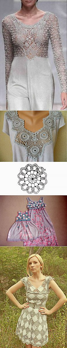 Эффектные сочетания ажурного вязания с тканью в одежде — Рукоделие